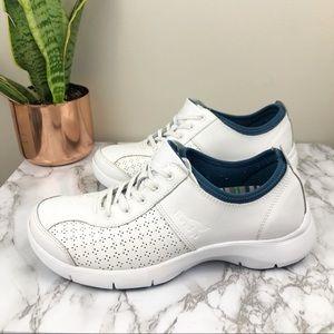 DANSKO   Elise White Leather Comfort Sneakers 38